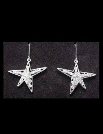 1 in. Star Earrings