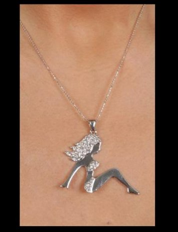 2 in. Silhouette Girl Pendant