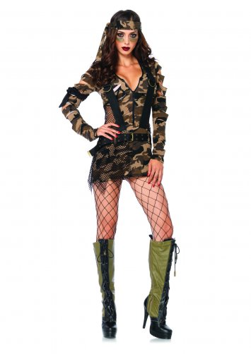 3 PC. Combat Babe Costume