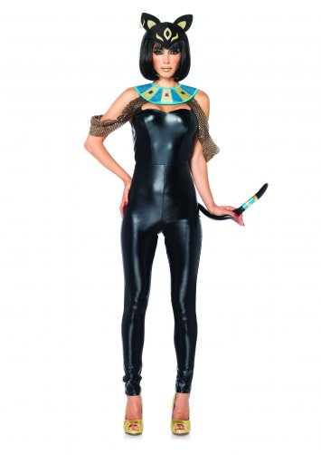 3 PC. Egyptian Cat Goddess Costume