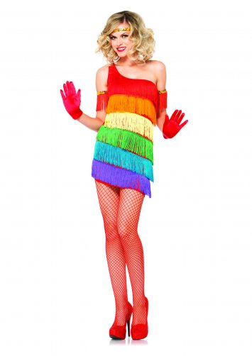 3 PC. Rainbow Flapper Costume