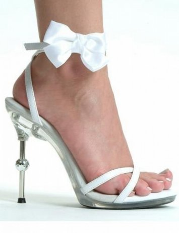 4.5 Inch Metallic Heel Sandal with Bow