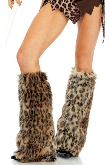 Animal Print Furry Legwarmers
