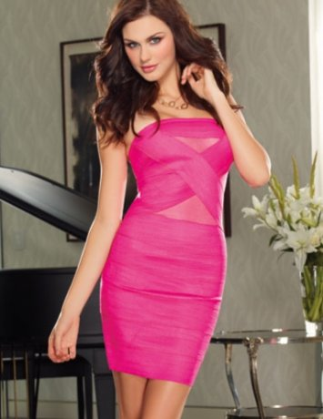 Banded Zipper Dress Dreamgirl