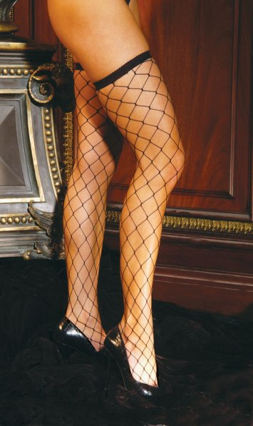 Big Diamond Net Thigh Highs