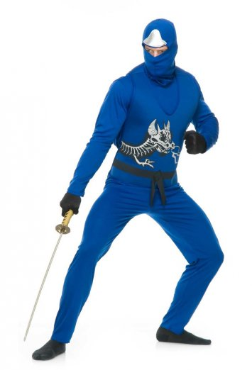 Blue Ninja Avengers Series II Adult Costume