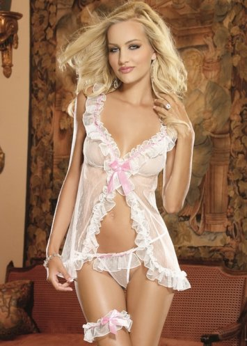 Book of Love Babydoll and Garter Set