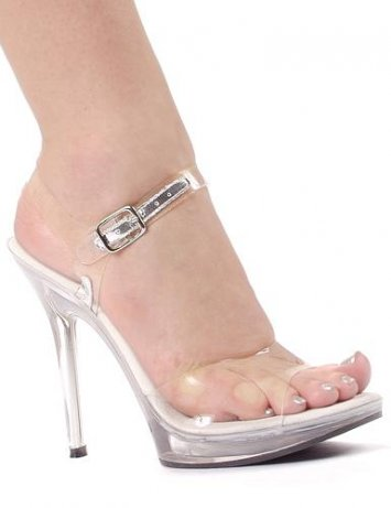 Brook 5 inch Clear Sandals