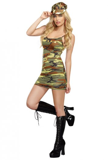 Camo Dress With Star Appliques Adult