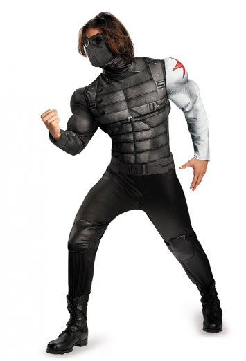 Captain America The Winter Solider Classic Muscle Plus Size Adult Costume