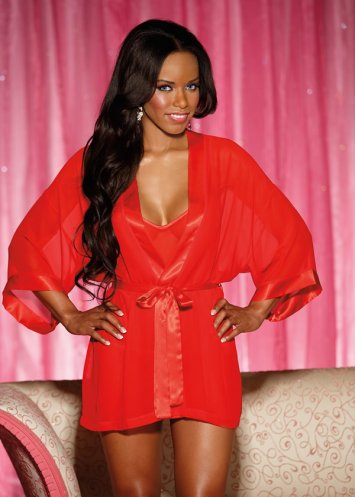 Chiffon Robe And Chemise Set