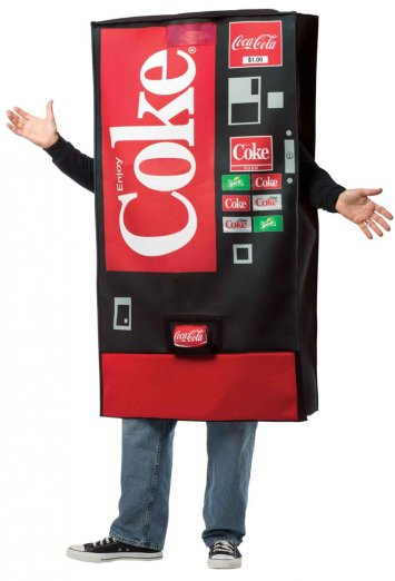 Coke Vending Machine Adult Costume