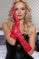 Floral Lace Elbow Length Gloves