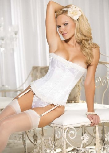 Floral Tapestry Strapless Corset