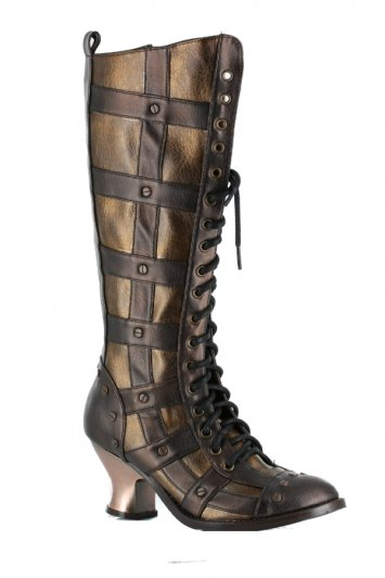 Hades Dome Knee High Rivet Boots