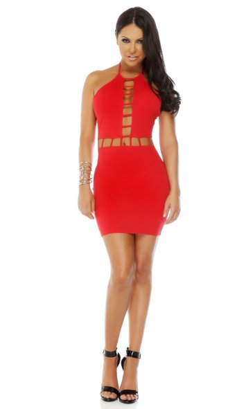 High Standards Halter Bodycon Dress