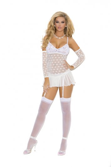 Lace Cups Mesh Babydoll