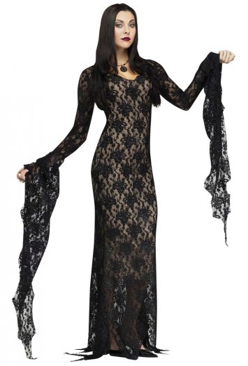 Lace Morticia Adult Costume