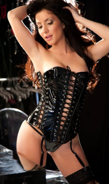 Lace Up Vinyl Corset