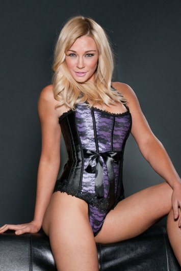 Lavender Lace Overlay Corset