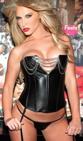 Leather Corset with Chain