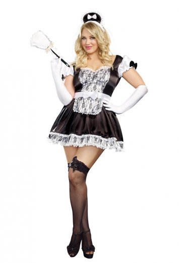 Maid For You Plus Adult Costume