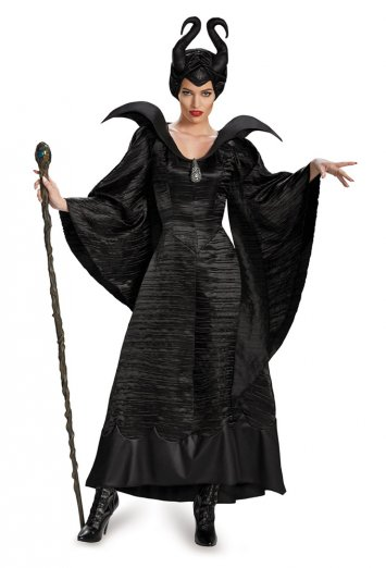 Maleficent Deluxe Christening Black Gown Adult Plus Costume