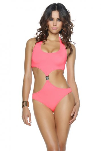 Malibu Sporty Cut-Out Buckle Monokini
