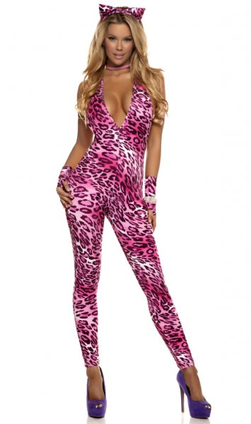 Meow Sexy Leopard Catsuit Costume