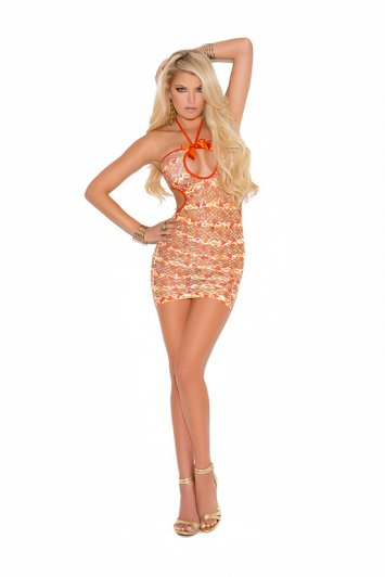 Mini Dress With Front Keyhole