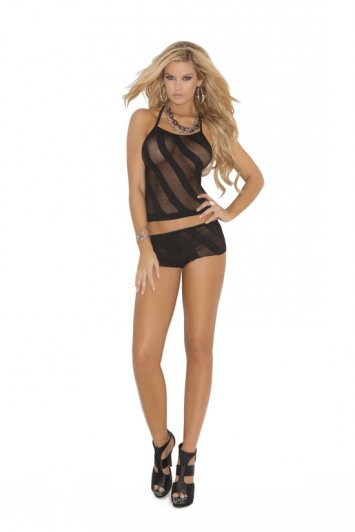 Opaque Burn Out Cami Set