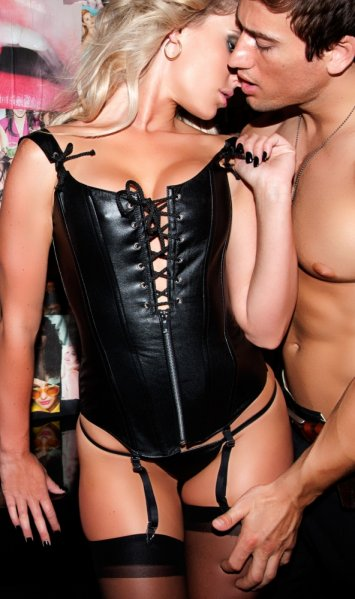 Peasant Girl Leather Corset