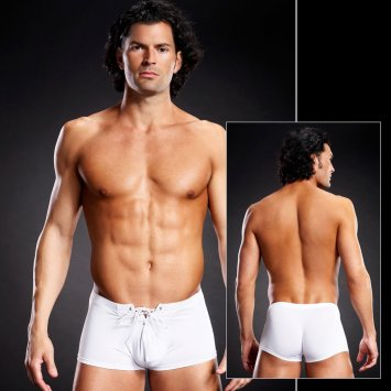 Performance Microfiber Lace-Up Trunk White