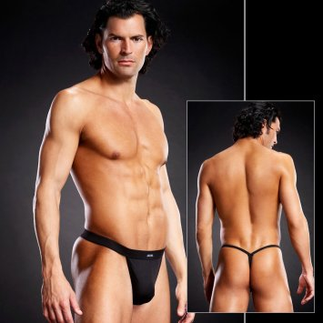 Performance Microfiber Thong Black