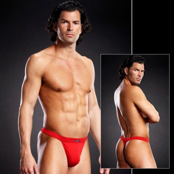 Performance Microfiber Thong Red
