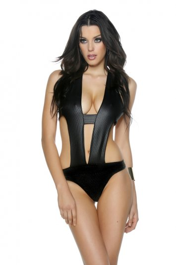 Pismo Beach Perforated Cut-Out Monokini