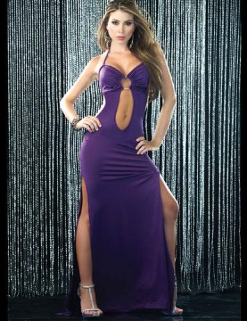 Plunging Ring Gown Espiral