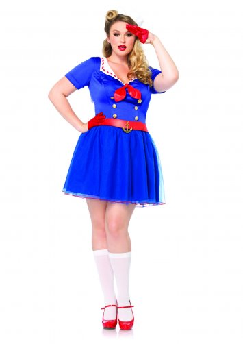 Plus Size Ahoy There Honey Sailor Costume