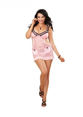 Plus Size Apron Babydoll and Heart Panty