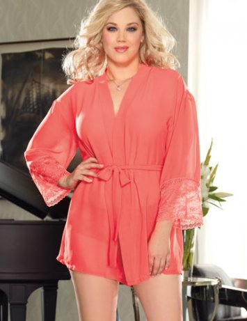 Plus Size Awaken Desires Robe Set