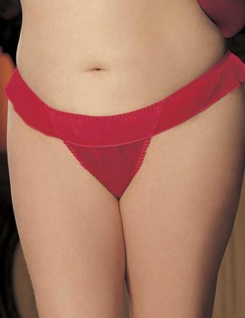Plus Size Big Bow Thong