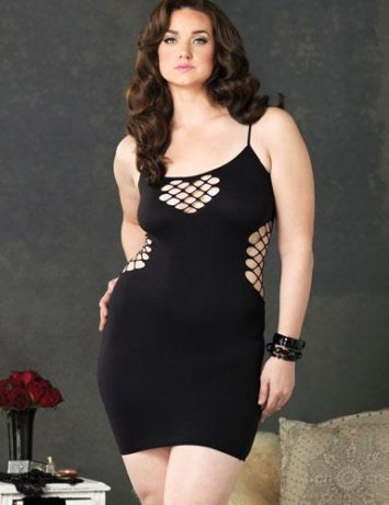 Plus Size Diamond Dress
