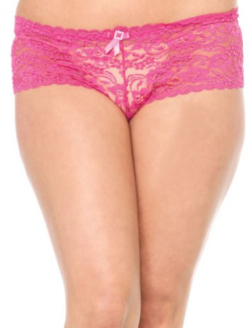 Plus Size Rose Tanga