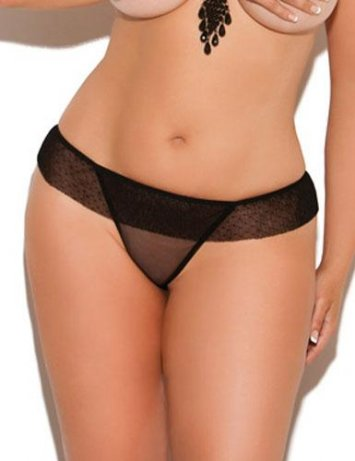 Plus Size Sheer G-String