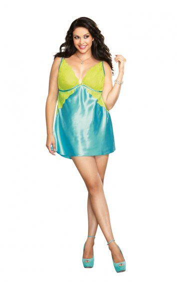 Plus Size Silky Satin Toga Chemise