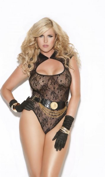 Plus Size Stretch Lace Teddy