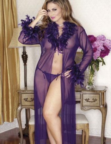 Plus Size Viola Mesh Robe