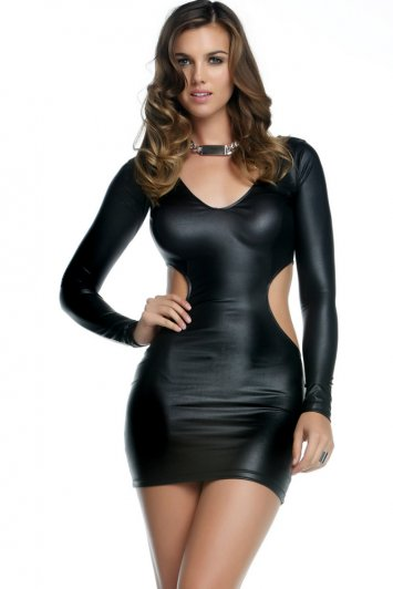 Quinn Matte V-Neck Cutout Dress