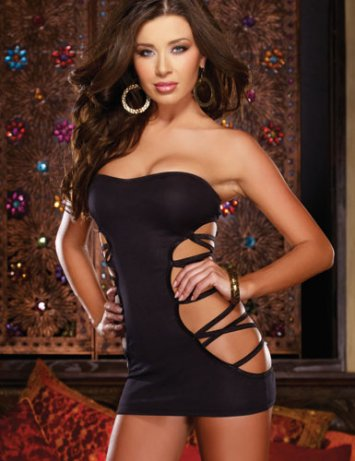 Revealing Ring Mini Dress Dreamgirl