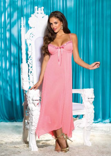 Sequin Chiffon Long Gown